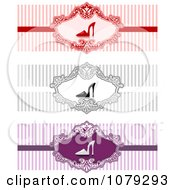 Clipart Set Of High Heel Shoe Website Banners Royalty Free Vector Illustration