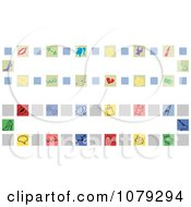 Clipart Set Of Girly Website Banners Royalty Free Vector Illustration