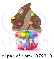 Clipart 3d Ivory School Boy Buying Ice Cream Royalty Free CGI Illustration