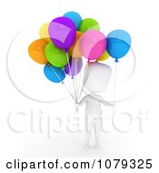 3d Ivory Balloon Vendor Man
