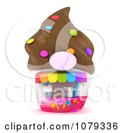 Clipart 3d Ice Cream Shop Royalty Free CGI Illustration