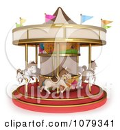 Clipart 3d Horse Carousel Royalty Free CGI Illustration by BNP Design Studio