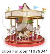 Clipart 3d Horse Carousel Royalty Free CGI Illustration