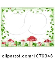 Clipart Red Mushroom And Vine Border Royalty Free Vector Illustration by BNP Design Studio