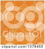 Clipart Orange Retro Circle Background Royalty Free Vector Illustration