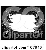 Clipart Black And White Floral Grunge Background 3 Royalty Free Vector Illustration