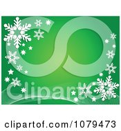 Clipart Green Christmas Snowflake Winter Background Royalty Free Vector Illustration