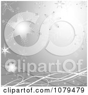 Clipart Silver Christmas Snowflake Winter Background Royalty Free Vector Illustration