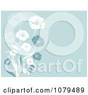 Clipart Blue Floral Background Royalty Free Vector Illustration by KJ Pargeter