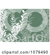 Clipart Green Floral Background Royalty Free Vector Illustration