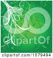 Clipart Green Floral Vine Background Royalty Free Vector Illustration