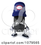 Clipart 3d Tire Mechanic Character Pouting Royalty Free CGI Illustration by Julos