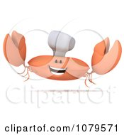 Clipart 3d Excited Chef Crab Royalty Free CGI Illustration