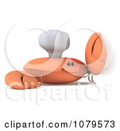 Clipart 3d Chef Crab With A Blank Sign 2 Royalty Free CGI Illustration