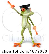 Clipart 3d Graduate Springer Frog Dancing 1 Royalty Free CGI Illustration