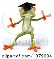 Clipart 3d Graduate Springer Frog Dancing 2 Royalty Free CGI Illustration
