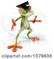 Clipart 3d Graduate Springer Frog Dancing 3 Royalty Free CGI Illustration