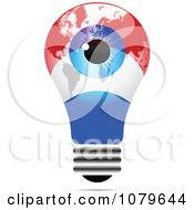 Clipart Blue Eye On A Luxembourg Light Bulb Royalty Free Vector Illustration by Andrei Marincas