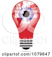 Clipart Blue Eye On A Swiss Light Bulb Royalty Free Vector Illustration by Andrei Marincas