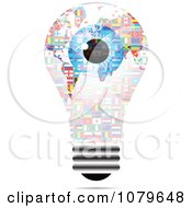 Clipart Blue Eye On A Flag Light Bulb Royalty Free Vector Illustration by Andrei Marincas