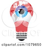 Clipart Blue Eye On An Austrian Light Bulb Royalty Free Vector Illustration by Andrei Marincas