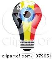 Clipart Blue Eye On A Belgium Light Bulb Royalty Free Vector Illustration by Andrei Marincas