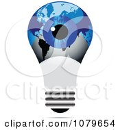 Clipart Blue Eye On An Estonian Light Bulb Royalty Free Vector Illustration