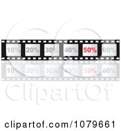 Clipart Film Strip With Discounts And Fifty Percent Highlighted Royalty Free Vector Illustration by Andrei Marincas