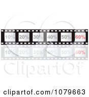 Clipart Film Strip With Discounts And Sixty Percent Highlighted Royalty Free Vector Illustration