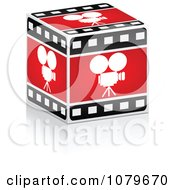 Clipart 3d Cinema Movie Camera Strip Box Royalty Free Vector Illustration by Andrei Marincas