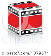 Clipart 3d Film Strip Box Royalty Free Vector Illustration by Andrei Marincas