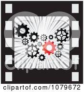 Clipart Gear Cog Film Strip Royalty Free Vector Illustration