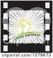 Clipart Green Business Film Strip Icon Royalty Free Vector Illustration by Andrei Marincas