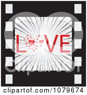 Clipart Love Film Strip Icon Royalty Free Vector Illustration by Andrei Marincas