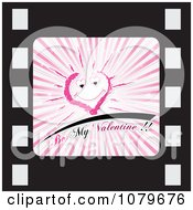 Clipart Be My Valentine Film Strip Icon Royalty Free Vector Illustration by Andrei Marincas