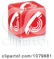 Clipart 3d Red Call Cube Royalty Free Vector Illustration by Andrei Marincas