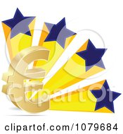 Clipart 3d Euro Symbol And Patriotic Stars Royalty Free Vector Illustration by Andrei Marincas