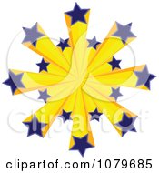 Clipart 3d Euro Stars Royalty Free Vector Illustration