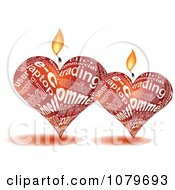 3d Red Heart Candles