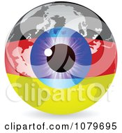 Clipart Blue Eye On A German Flag Globe Royalty Free Vector Illustration by Andrei Marincas