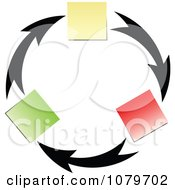 Clipart Arrow And Memo Circle Royalty Free Vector Illustration