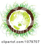 Clipart Green Continents On A Soil Earth With Grass Royalty Free Vector Illustration by Andrei Marincas
