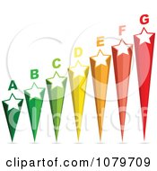 Clipart 3d Energy Chart Stars Royalty Free Vector Illustration by Andrei Marincas