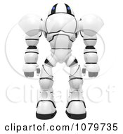 Clipart 3d Security Robot Standing Royalty Free CGI Illustration