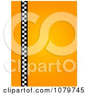 Clipart Gradient Orange Vertical Taxi Background Royalty Free Illustration