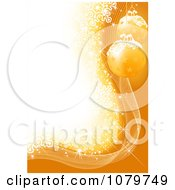 Clipart Golden Christmas Ornament And Snowflake Background Royalty Free Vector Illustration