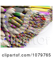 Clipart Pile Of 3d Colored Pencils Royalty Free CGI Illustration by KJ Pargeter