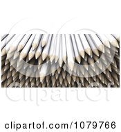 Clipart Pile Of 3d White Colored Pencils Royalty Free CGI Illustration by KJ Pargeter