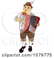 Clipart Oktoberfest Musician Man Playing An Accordian Royalty Free Vector Illustration
