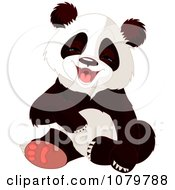 Clipart Cute Panda Laughing Royalty Free Vector Illustration